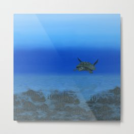 Peaceful Sea Turtle Metal Print