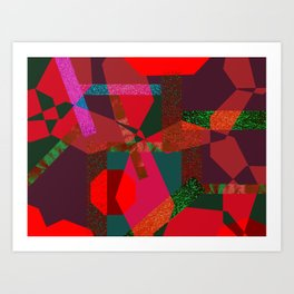 PARTY-COLORED Art Print