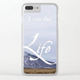 John 14:6 (3 of 3) I Am the Life Inspirational Bible Verse Christian Art Clear iPhone Case