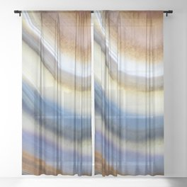 Colorful layered agate 2075 Sheer Curtain