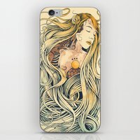sleeping beauty iPhone & iPod Skins featuring Sleeping Beauty by Azrhon