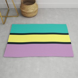 Diversions #1 in Turquoise, Yellow & Mauve Rug