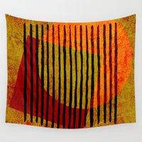 copper Wall Tapestries featuring rusty copper by Ioana Luscov