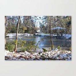 Snowing in Savannah Ga. Canvas Print
