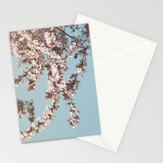 Cherryblossoms against the blue sky Stationery Cards