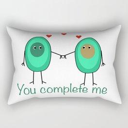 Avocado You Complete Me Kitchen Foodie Besties Rectangular Pillow