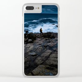 Coastline Acadia Thoughts Clear iPhone Case