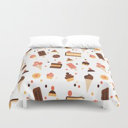 Cocktails Pastry Pattern Vector eat drink and jingle all the way ice Duvet Cover