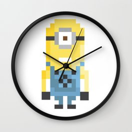 8bit Minion (Kevin) Wall Clock