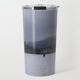 Snowshoeing Across Lonesome Lake - NH Travel Mug