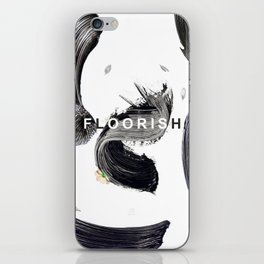 Floorish Brush iPhone Skin