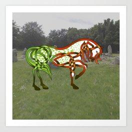 Celtic Knot Horse Art Print
