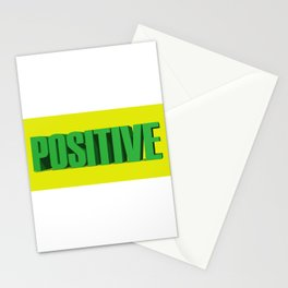 Positive, Positive Quote, Positivity, Positive Mindset, Be Positive, 3D Quote Stationery Cards