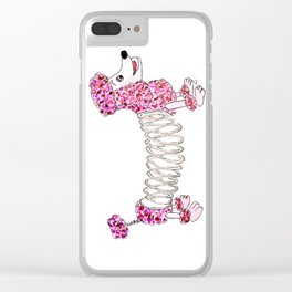 Slinky Poodle Clear iPhone Case