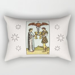 TWO OF CUPS / WHITE Rectangular Pillow
