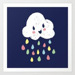 Rainbow Rain - Night Time Art Print