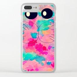 cat-79 Clear iPhone Case