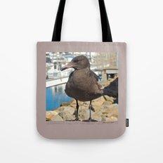 Portrait of a Grumpy Gull Tote Bag