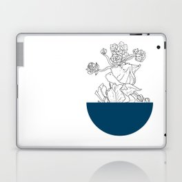 VESSEL - Floral Ink in Peacock - Cooper and Colleen Laptop & iPad Skin