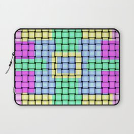 Beautiful Pastel Weave Texture Laptop Sleeve