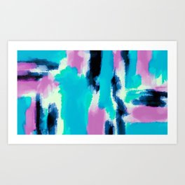 pink black and blue painting texture abstract background Art Print