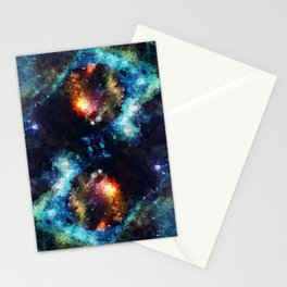 Abstract Galaxy Infinity Stationery Cards