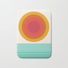 Totally Hot - 70s style retro throwback minimal sunshine beach socal cali 1970's Bath Mat