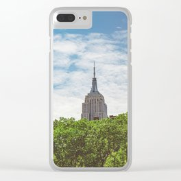 Color Empire State Building Clear iPhone Case