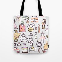 perfume Tote Bags featuring Perfume  by Maddy Vian