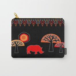 African Rhino (Hot colors) Carry-All Pouch
