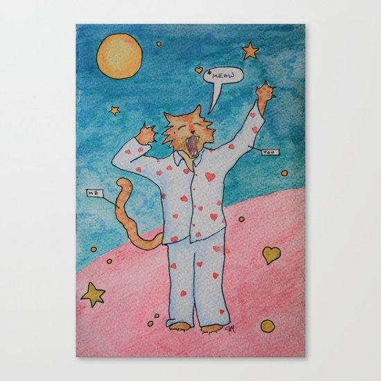 Cat's Pajamas Canvas Print