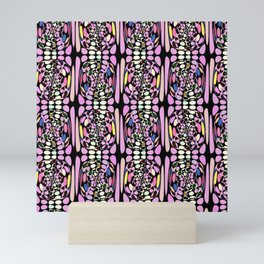 Funky Rainbow Mini Art Print