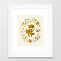 animals Framed Art Prints featuring The Legend of Zelda: Mammal's Mask by Teagan White