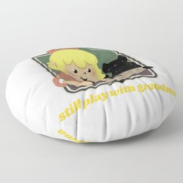 Retro Style Talking Spirit Board Dark Humor Floor Pillow