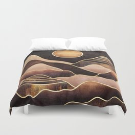 Sunkissed Mountains Duvet Cover