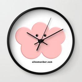 Cute Pink Cloud Wall Clock