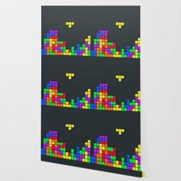 Tetris print design Wallpaper