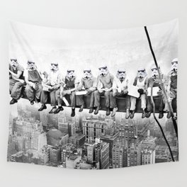 Star war| new york workers Wall Tapestry