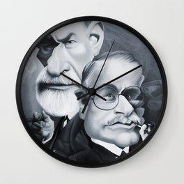 Sigmund Freud and Carl Jung Wall Clock