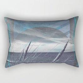 Before the Storm - blue graphic Rectangular Pillow