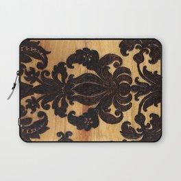 Wood Burnt Damask Laptop Sleeve