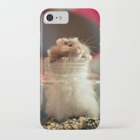 hamster iPhone & iPod Cases featuring Hungry Hamster by EmilyBest