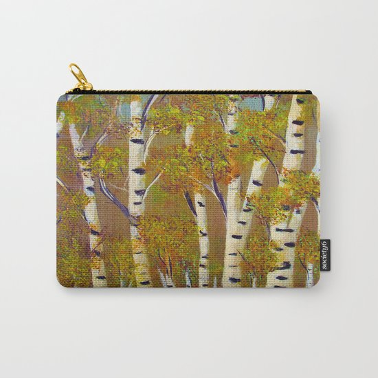Birch trees-3 Carry-All Pouch