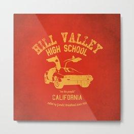 Hill Valley High School Metal Print