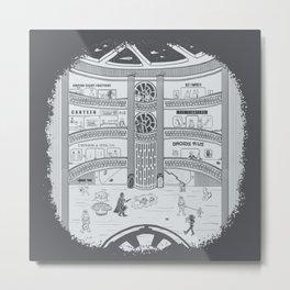 Darth Mall Metal Print
