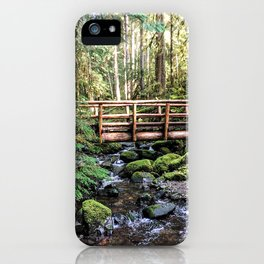 Wanderlust Beauty // Take Me to the Forest Where the Peaceful Waters Flow in the Dense Woods iPhone Case