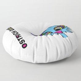 Ostrich Goes Pop Floor Pillow