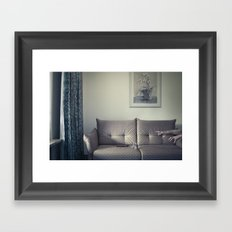 meanwhile, in a small Hotel... Framed Art Print