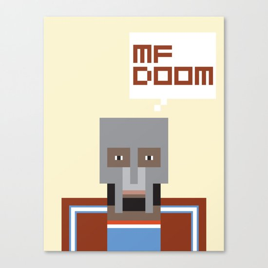 Metal Face Canvas Print