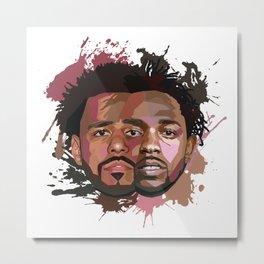Kendrick Lamar + J Cole Metal Print